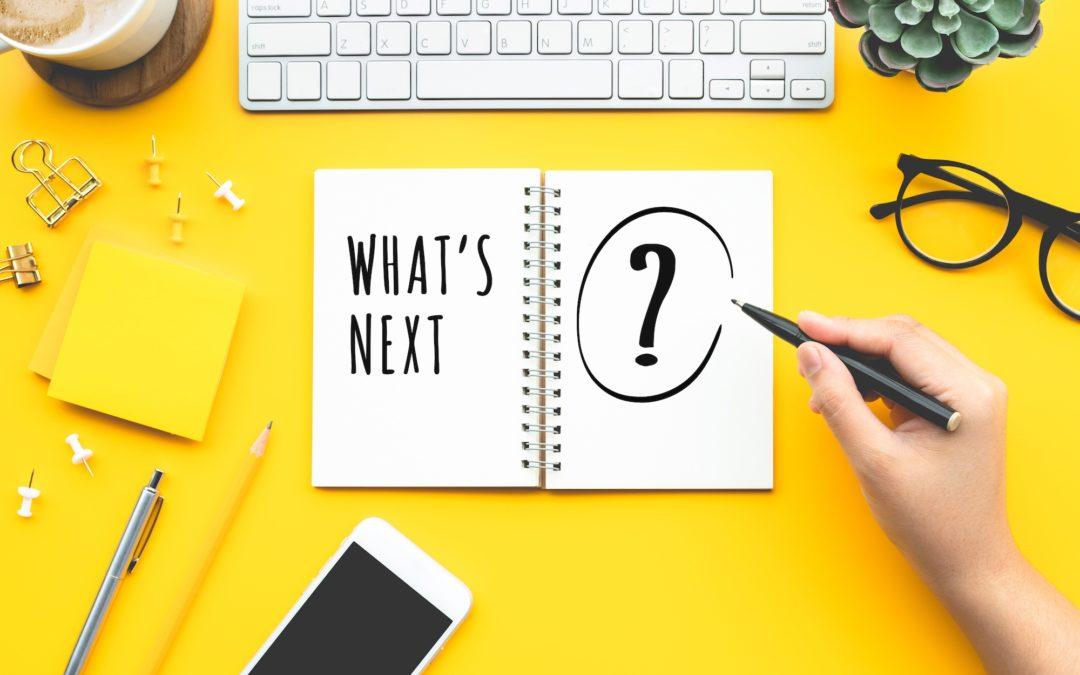 What's Next written in a notebook